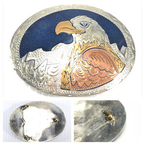 Other - Vintage silverplated bald eagle belt buckle